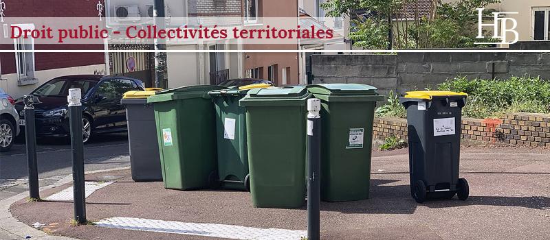 collectivité territoriale ordures ménagères : taxe ou redevance